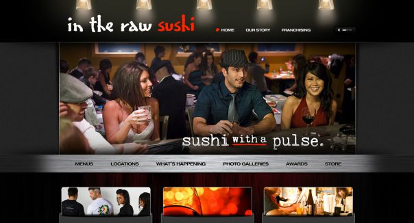 Creative State Launches New Site for In the Raw Sushi