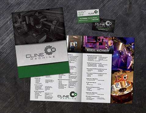 Cline Machine - Branding, Brochure, Business Cards, Photography