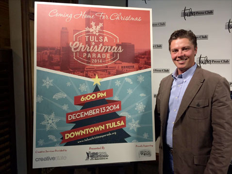 Creative State's Tulsa Christmas Parade Poster Design Revealed