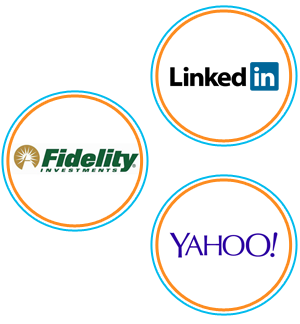 Fidelity Investments, Yahoo and LinkedIn Logos