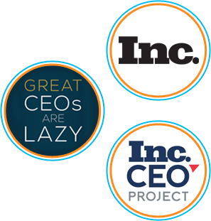 Great CEO's Are Lazy Book Cover, Inc. CEO Project Logo, Inc. Magazine Logo