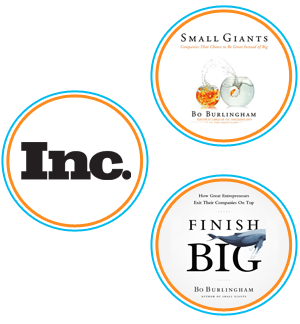 Inc. Magazine Logo, Small Giants Book Logo, Finish Big Book Logo