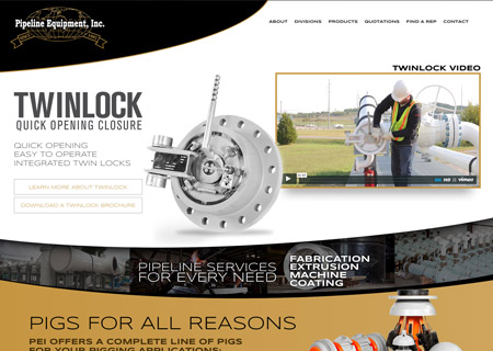 Pipeline Equipment Inc. Website, Video Production and Print Design