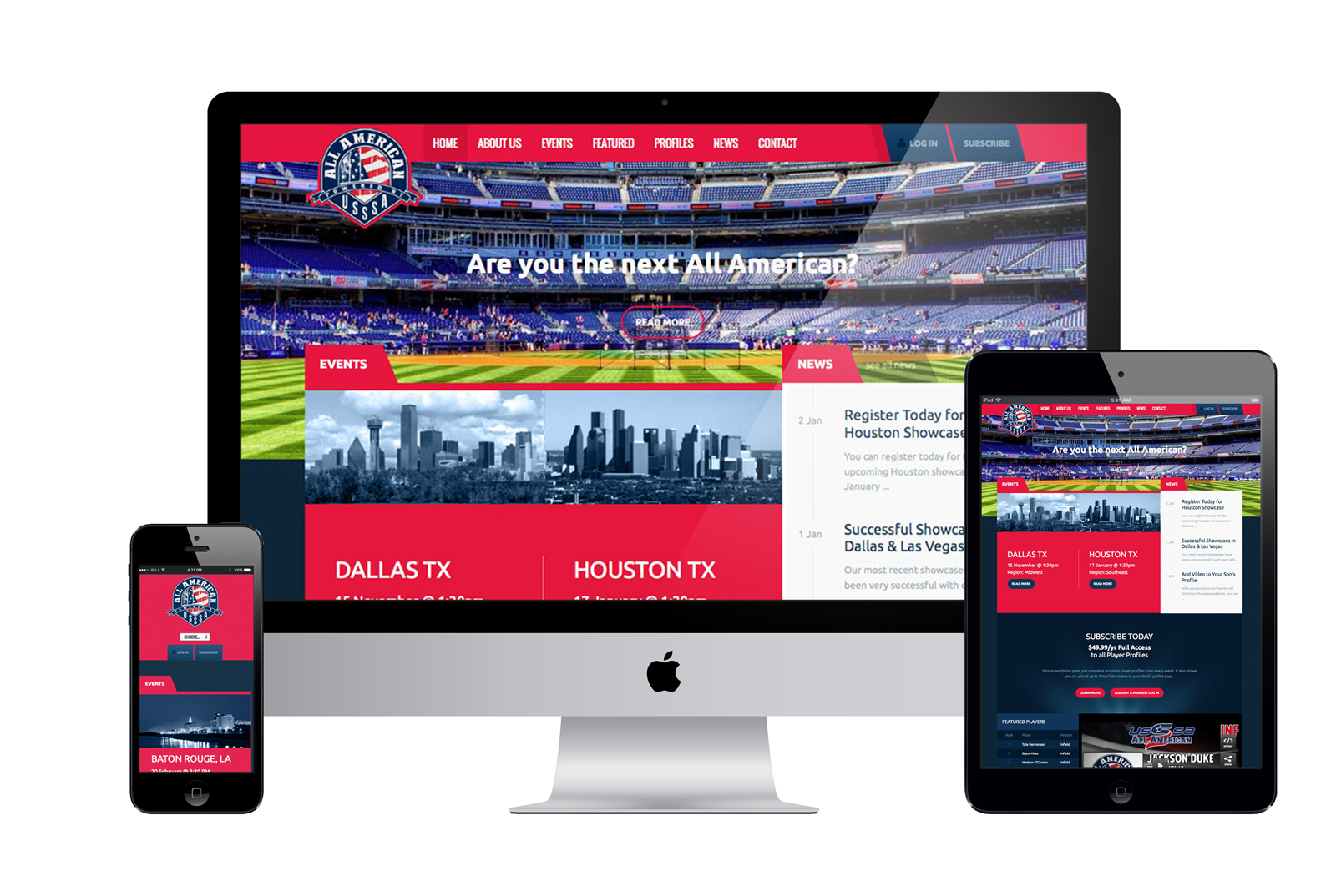 Responsive Website for All American Athletics