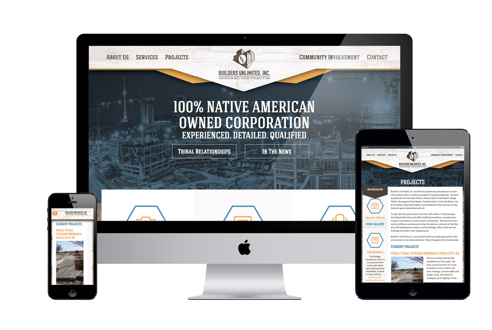 A Custom Website for a general contractor