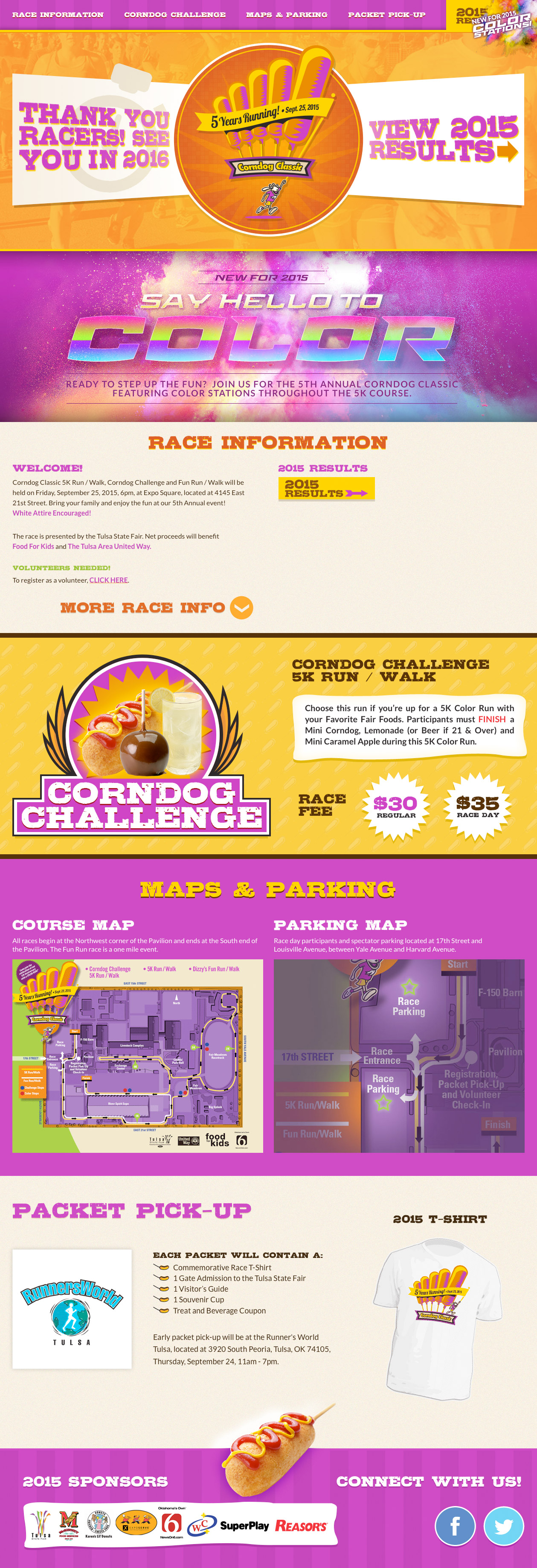 Custom Website for Corndog Classic 5k