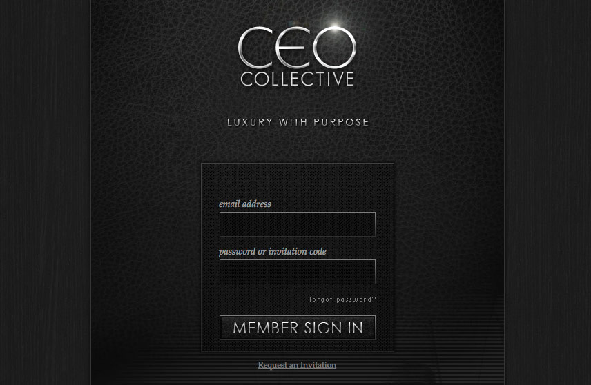 Member Sign In Screenshot of CEO Collective