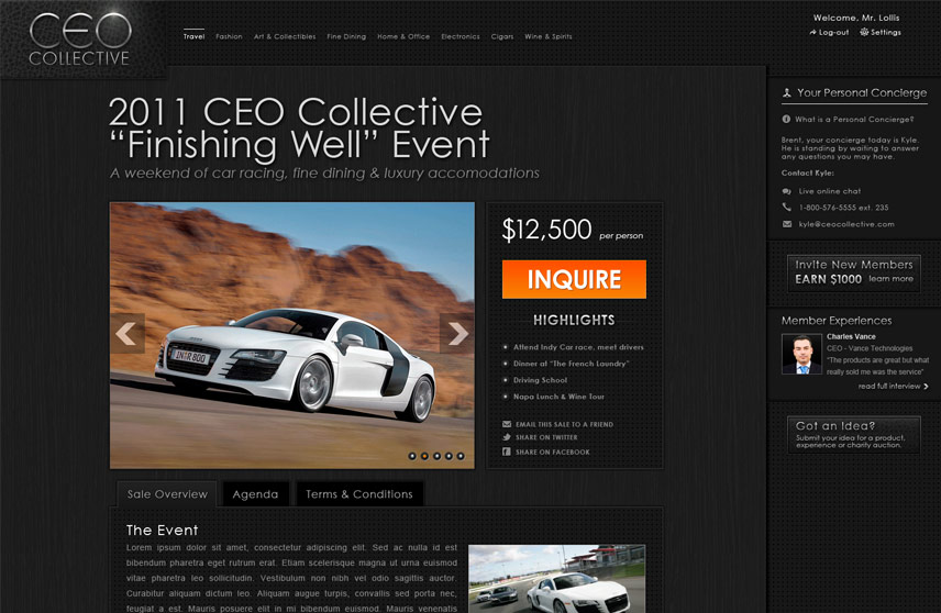 Inner Page Screenshot of CEO Collective