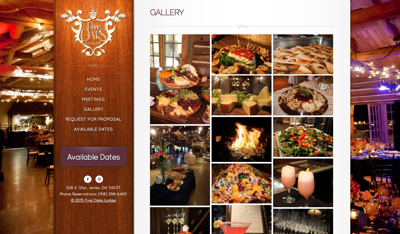 Gallery Page for Five Oaks Lodge