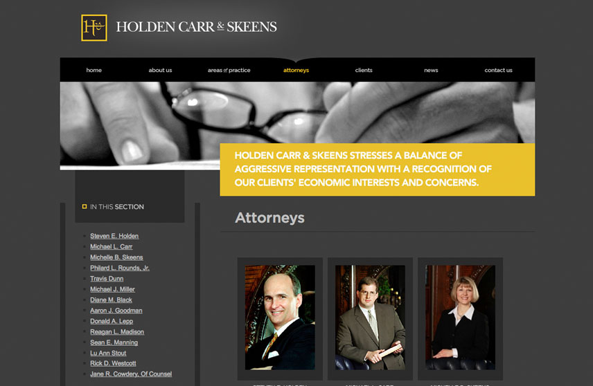 Attorney Bio Page for Holden