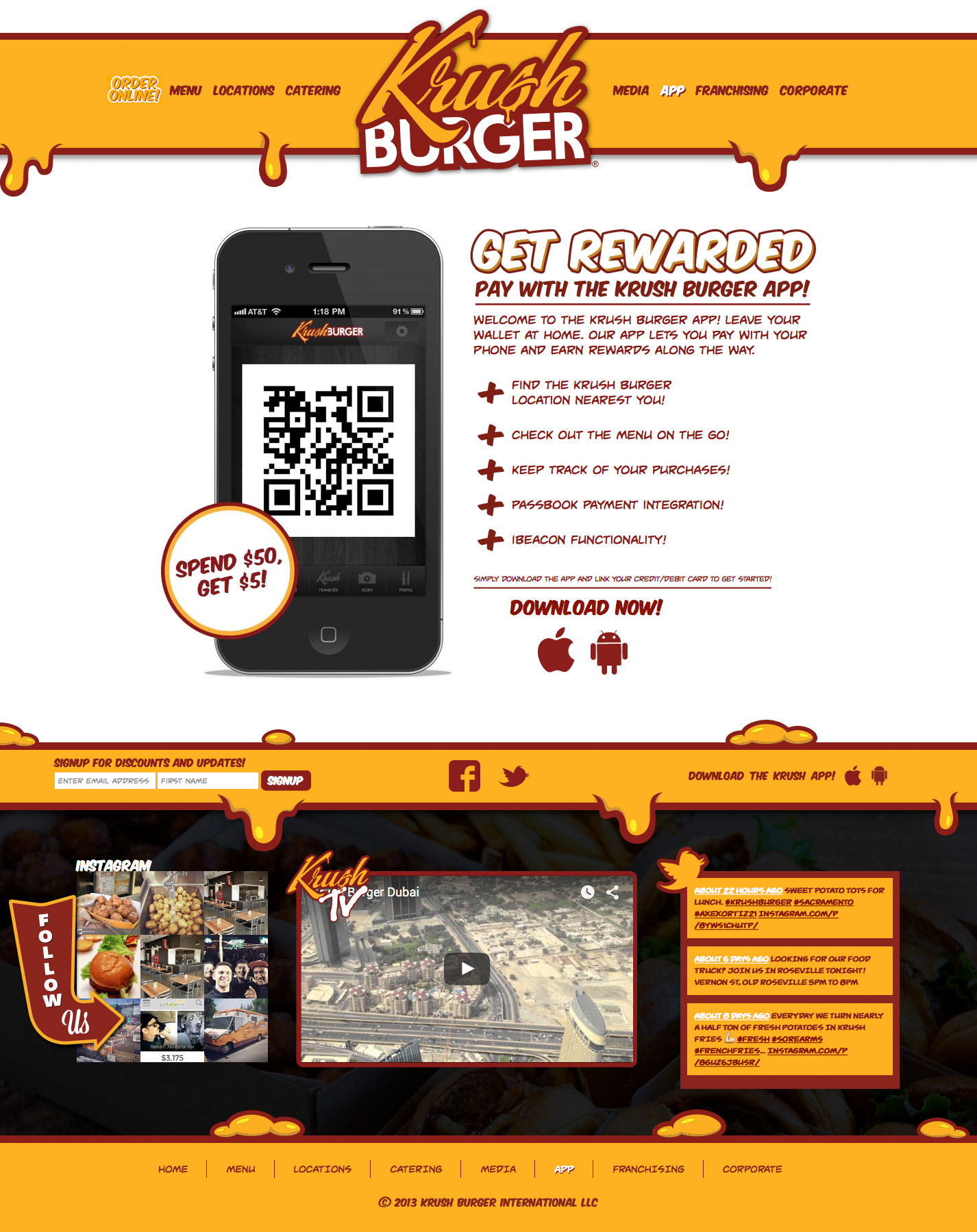 Inner Page Screenshot for Krush Burger