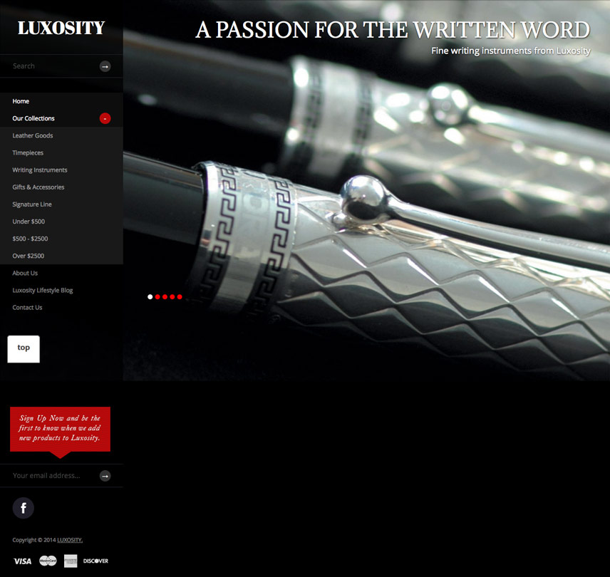 Homepage Screenshot of Luxosity