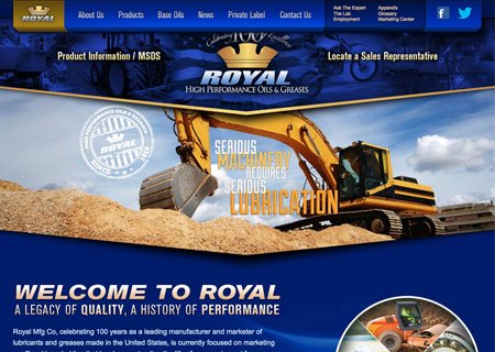 Royal Manufacturing Custom Website