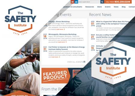 The Safety Institute project by Creative State. Responsive Web Design, Branding, Print Design and Photography
