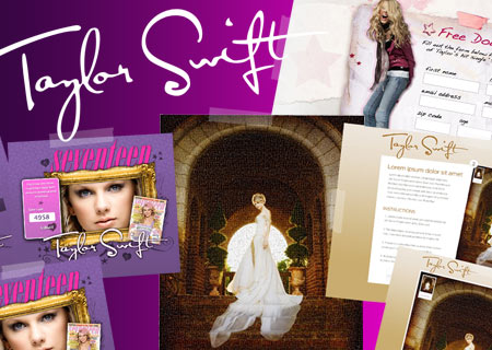 Custom web design project and marketing services for Taylor Swift by Creative State