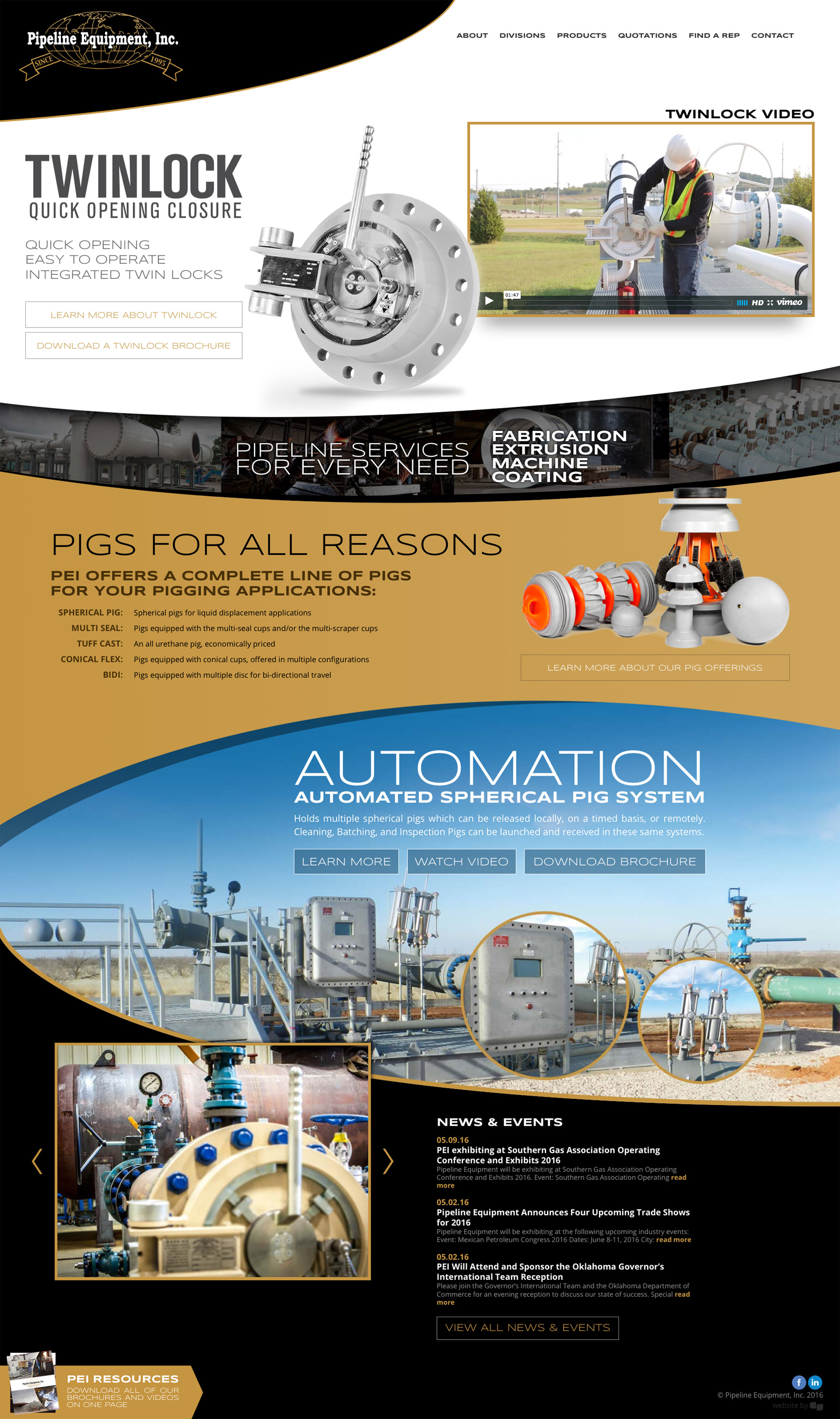 Tulsa Web Design for Pipeline Equipment